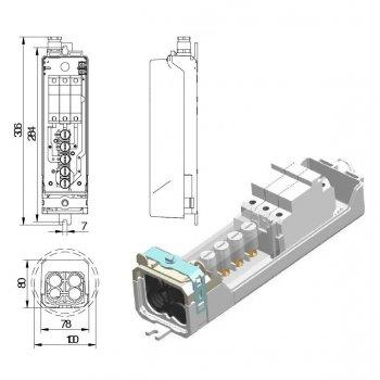 Aansluit set voor lichtmasten IP 55