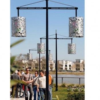 Decoratieve conische aluminium mast